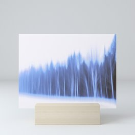 Forest in a row Mini Art Print