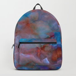 Colorful watercolor abstraction II Backpack