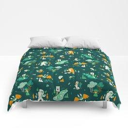 Cryptid Cuties (Bigfoot, Yeti, Jackalope, Mothman, Ghost, Loch Ness Monster) Comforters