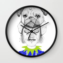 Mystic Pug Wall Clock