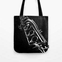 B&W Clarinet Tote Bag