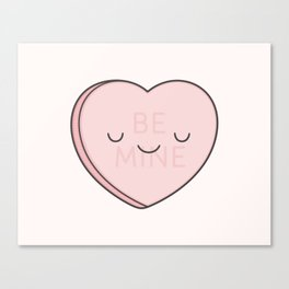 Pink Sweet Candy Heart Canvas Print