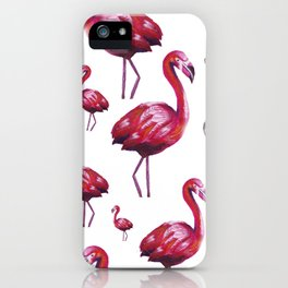 Hand-painted Flamingos iPhone Case