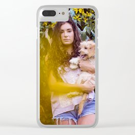 Kate and her Pups Clear iPhone Case