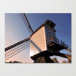 1745 Windmill sundown Canvas Print