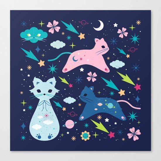 Cloud Kittens Canvas Print