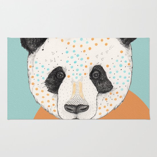 Polkadot Panda Rug
