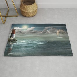 Lighthouse Under Back Light Rug