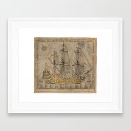 Ship by 'Abd al-Qadir Hisari, 1776 Framed Art Print