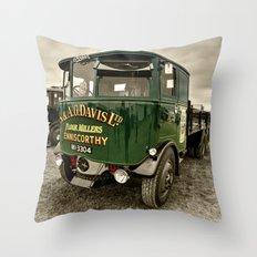 The Foden Wagon Throw Pillow