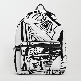 Nude Goddess Doodle 3o by Kathy Morton Stanion Backpack