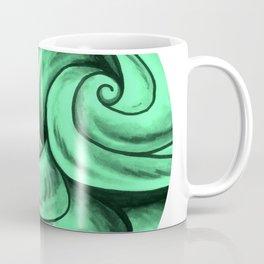 Swirl Circle (green) Coffee Mug