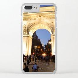 Washington Square Park Clear iPhone Case