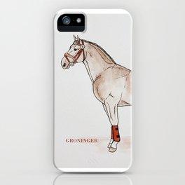 GRONINGEN HORSE - Beige iPhone Case