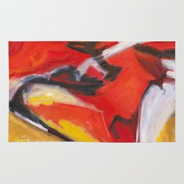 Red Sonja - Red Yellow Abstract Painting Rug