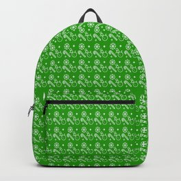 Green Christmas Wrapping Paper Pattern Backpack