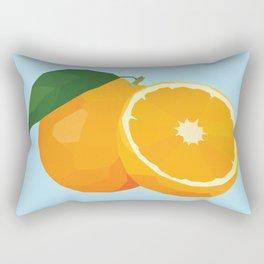 Geo Orange Rectangular Pillow