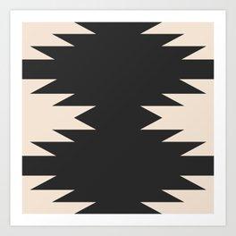 Minimal Southwestern - Charcoal Art Print
