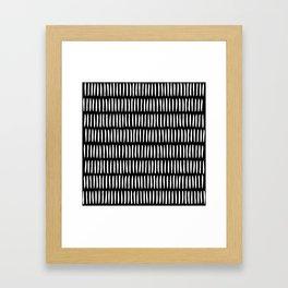 Classy Handpainted Stripes Pattern Black, Scandinavian Design Framed Art Print