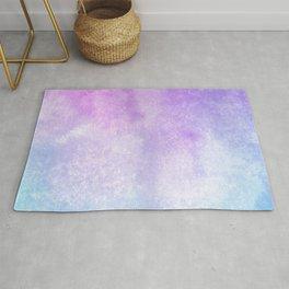 Blue Purple Aquarelle Wash Rug