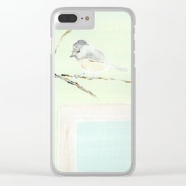 Chickadee Winter Clear iPhone Case