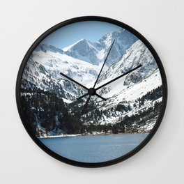 Snowy Mountains and Lake Wall Clock