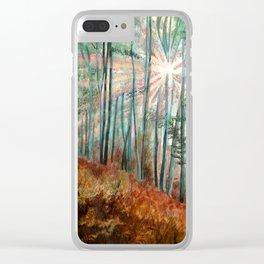 Autumn Sunlight Clear iPhone Case