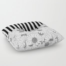 Daisy Stripe Floor Pillow