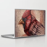 cardinal Laptop & iPad Skins featuring Cardinal by Werk of Art