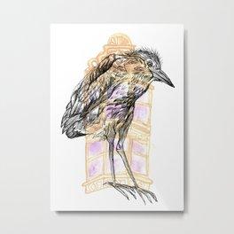 Urban Heron Metal Print