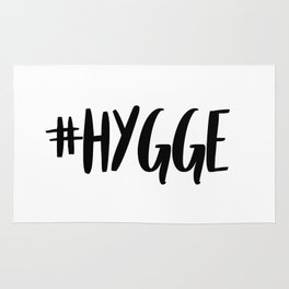 #hygge - scandi quote trend hashtag Rug