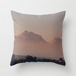 Landscape Italian Mountain in Autumn Throw Pillow