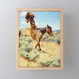 """The Chief"" Western Art by W Herbert Dunton Framed Mini Art Print"