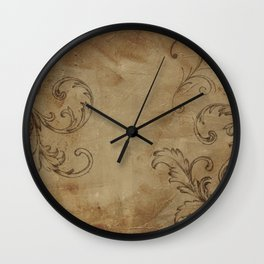 Rustic French Scroll Wall Clock