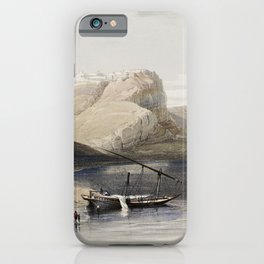 Fortress of Ibrim Nubia  by David Roberts (1796-1864) iPhone Case