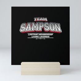 Team SAMPSON Family Surname Last Name Member Mini Art Print