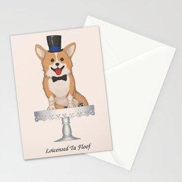 Victorian Corgi Stationery Cards