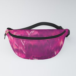 Abstract modern violet neon pink ikat pattern Fanny Pack