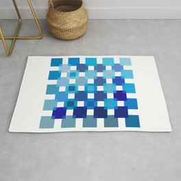 50 / 114 Squares of BLUE - Living Hell Rug