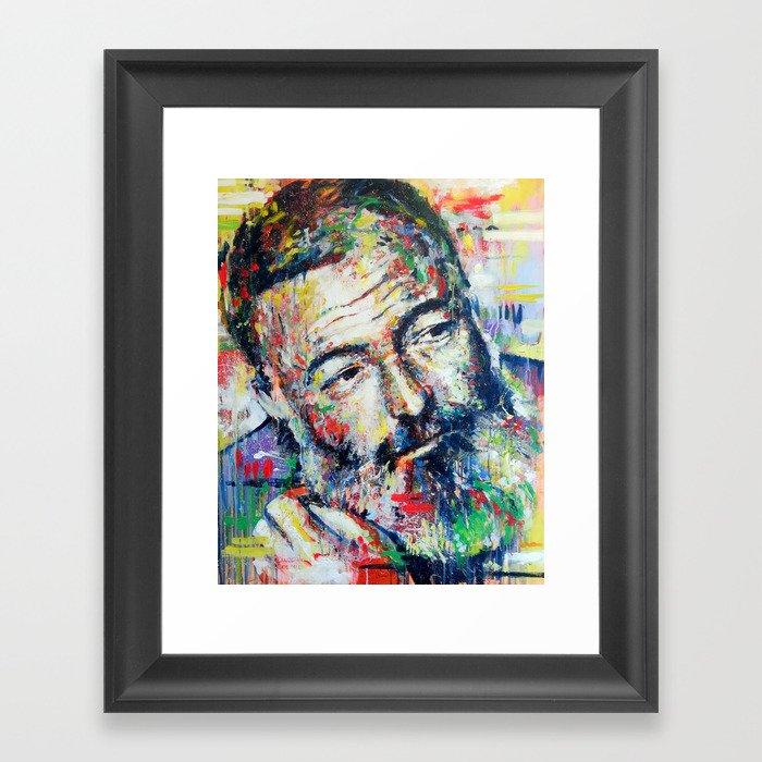 Ernest Hemingway Framed Art Print
