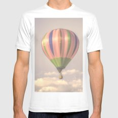 Magical pink balloon Mens Fitted Tee White MEDIUM