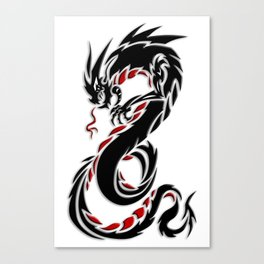 Spiraling Tribal Dragon Canvas Print