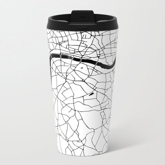 London Minimal Map Metal Travel Mug