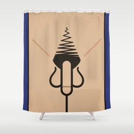 Knob Shower Curtain