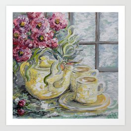 Morning Tea for Two Art Print