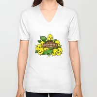 lemongrab V-neck T-shirts featuring Lemongrab's Acceptable Lemonade  by BlacksSideshow