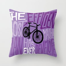 The Most Efficient Machine Throw Pillow