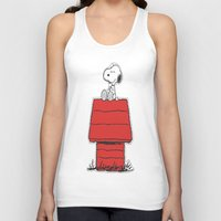 snoopy Tank Tops featuring Snoopy by Simple Touch Apparel