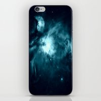 nebula iPhone & iPod Skins featuring Orion nebula : Teal Galaxy by 2sweet4words Designs