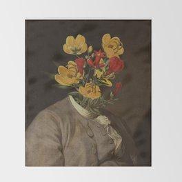 Flower head Throw Blanket